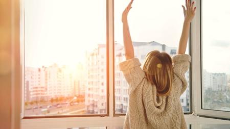 朝日を浴びて、生活リズムを整える