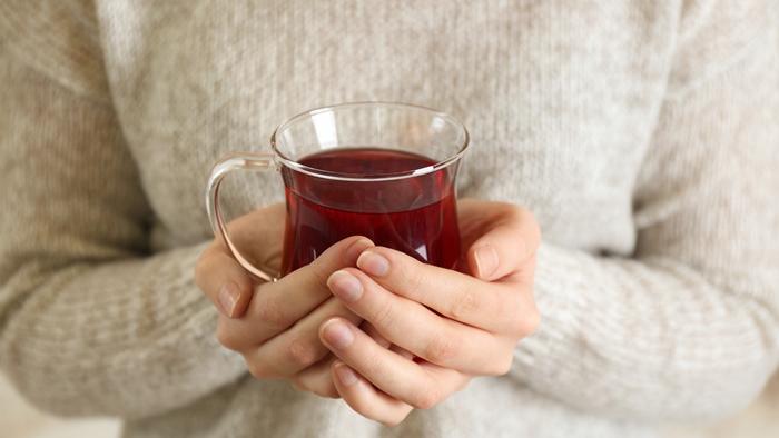ゆっくりと自分でいれた紅茶を飲んでリラックス。